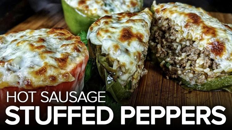 Recipe: Hot Sausage Stuffed Peppers