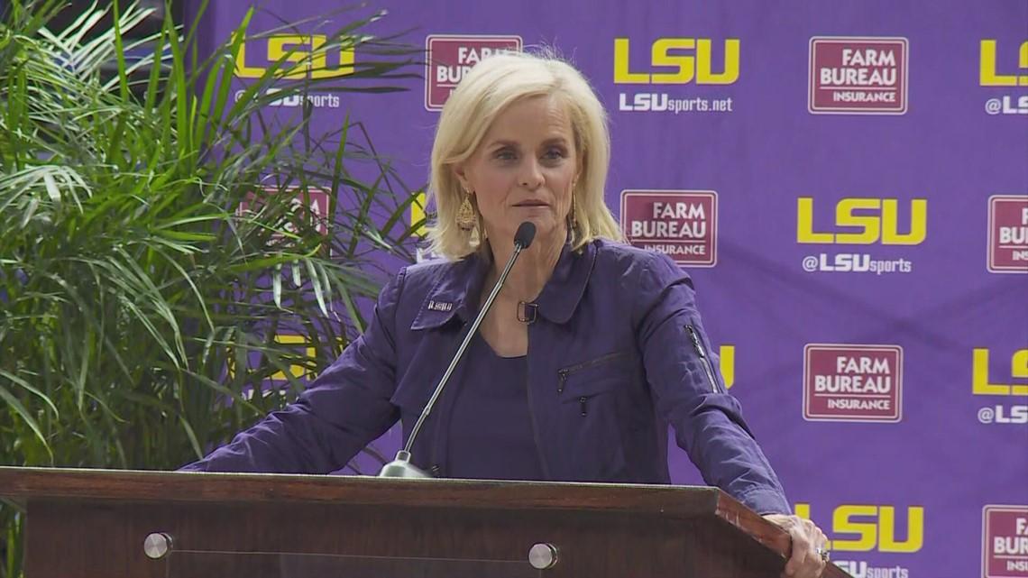 Kim Mulkey has emotional homecoming at LSU