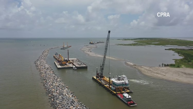See how $100 million is being spent to restore Louisiana's barrier islands