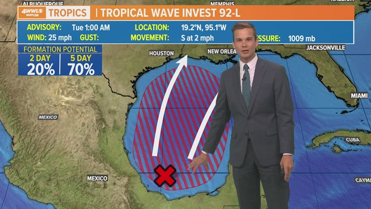 Tuesday Tropics Update: Depression likely in Gulf could bring significant rain to Gulf Coast