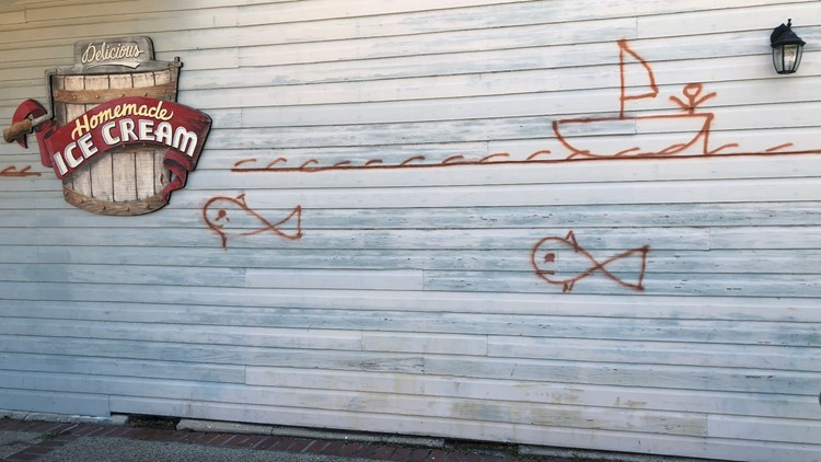 Water Line outside Old Town Slidell Soda Shop