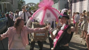 20th annual Gay Easter Parade rolls through New Orleans' French Quarter