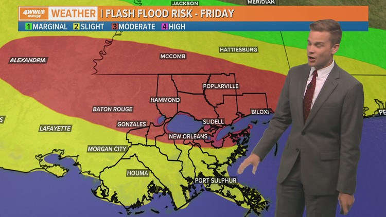 Storms continue Friday with more rain expected Saturday
