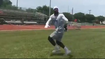 VIDEO: Dez Bryant running routes for first time since Achilles tear