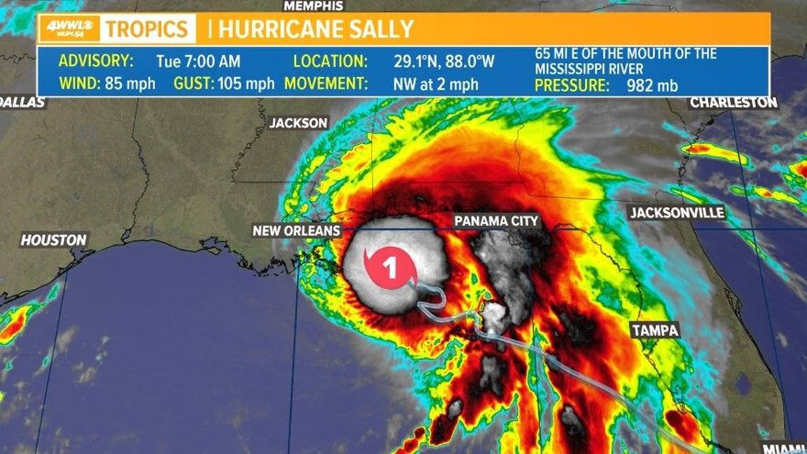 Tracking Hurricane Sally: Latest forecast track and ...Hurricane Sally Track