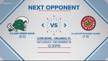 Tulane to face UL Lafayette in Cure Bowl