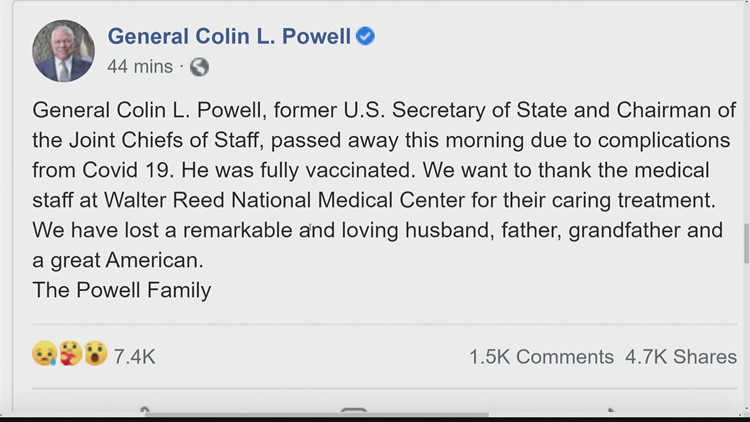 Colin Powell, first Black US secretary of state, dies at 84