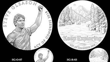 Steve Gleason's Congressional Gold Medal design finished