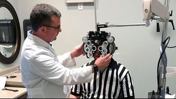 Northshore eye doctor announces free referee eye tests for Saints preseason start