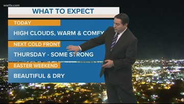 A cool morning and comfortable afternoon on Tuesday