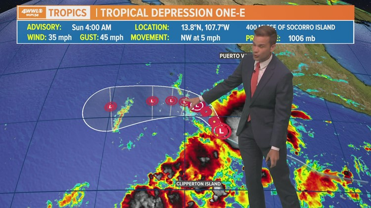 Tropical Depression One forms in Eastern Pacific, could become named storm