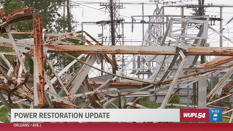 Crews restore power in most of NOLA, more work to be done in Jefferson Parish