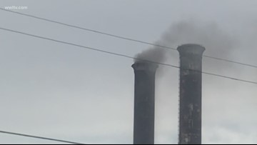 Smoke spotted coming from abandoned New Orleans power plant