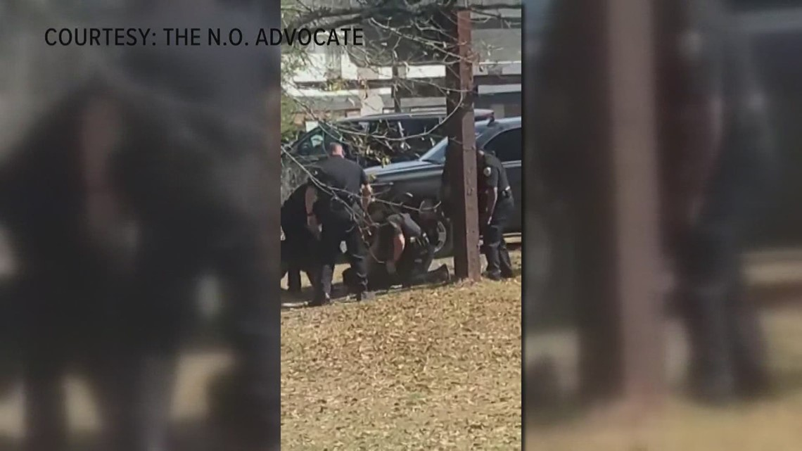 Video appears to show Hammond police hitting handcuffed suspect