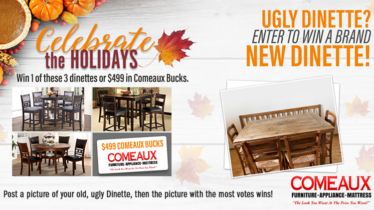 Comeaux Furniture Ugly Dinette Contest
