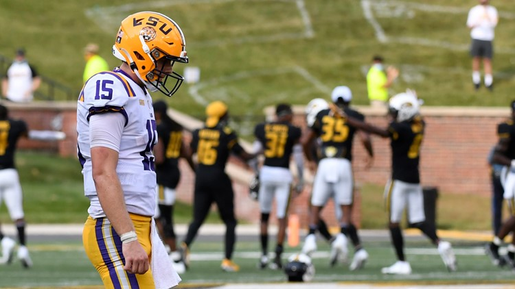 LSU's Myles Brennan out indefinitely with arm injury