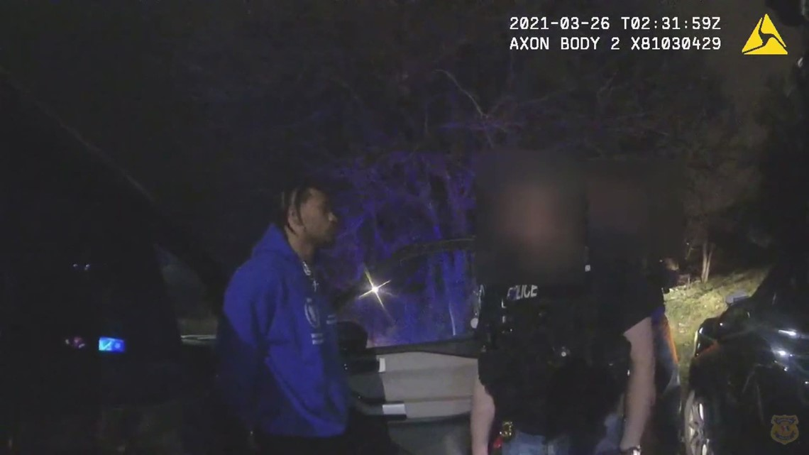 Bodycam footage shows the arrest of Marshon Lattimore back in Mach