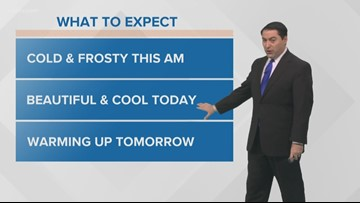 Pinpoint Forecast: A Frosty Start Tuesday, Sunny and Cool Later