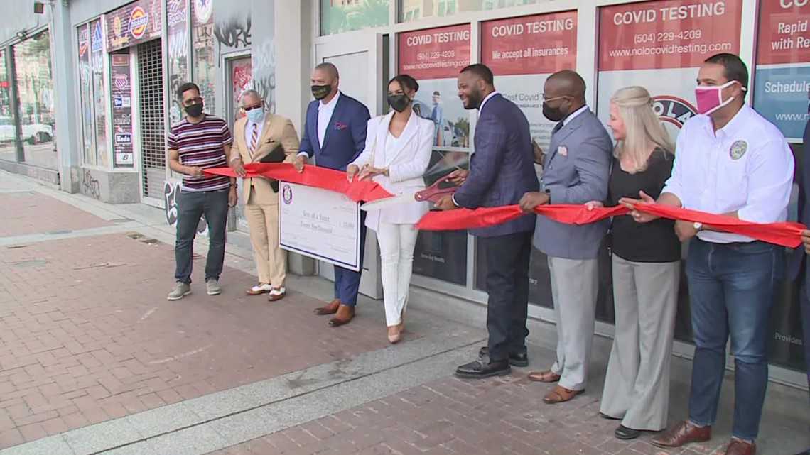 Rapid COVID-19 testing center opens on Canal Street