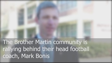Students rally behind Brother Martin coach