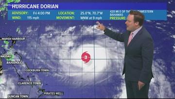 5 p.m. Friday update on Hurricane Dorian