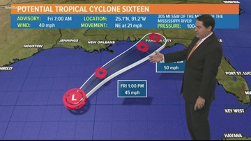 7 AM: Tropical Storm Nestor likely to form in Gulf Friday