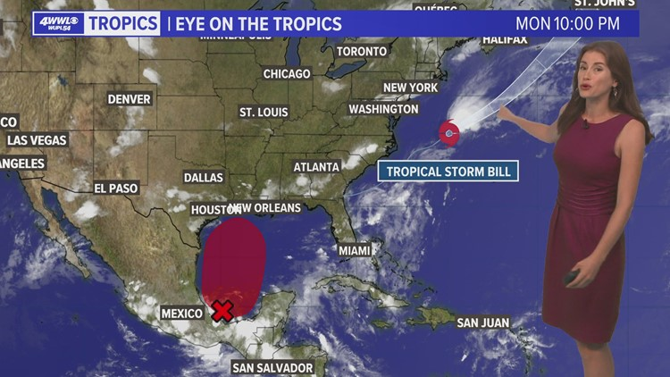 Tropical Storm Bill forms off the east coast, 70% chance of tropical depression in the Gulf