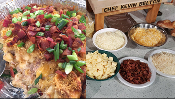 Chef Kevin Belton Recipe: Mac and Cheese with Pulled Pork & Peach Cobbler