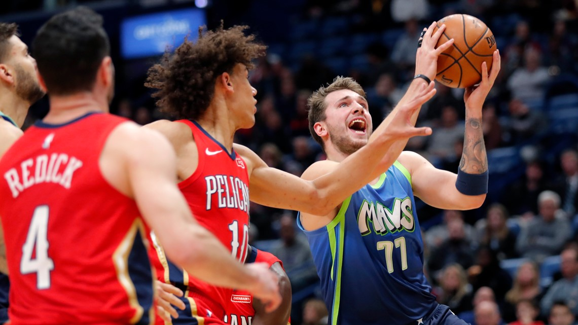 Doncic scores 33, powers Mavericks past Pelicans, 118-97