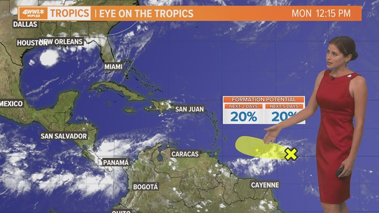 Monday afternoon tropical update: Claudette and a new spot in the Atlantic