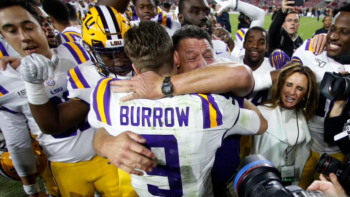 LSU remains No. 1 in College Football Playoff seeding