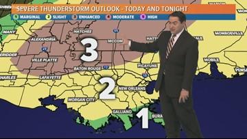 Severe weather threatens Gulf Coast Monday night