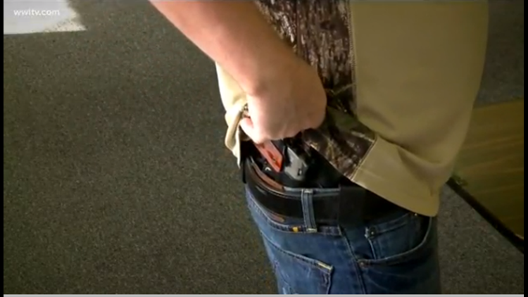 If you can buy a gun legally you should be able to conceal it, Louisiana lawmakers say