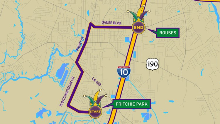 Krewe of Selene 2020 parade route