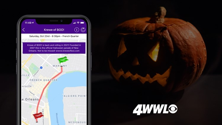 Track the Krewe of Boo with the WWL-TV Parade Tracker App