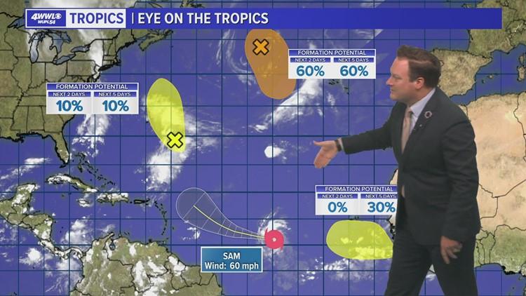 Tropical Storm Sam forms, forecast to become major hurricane
