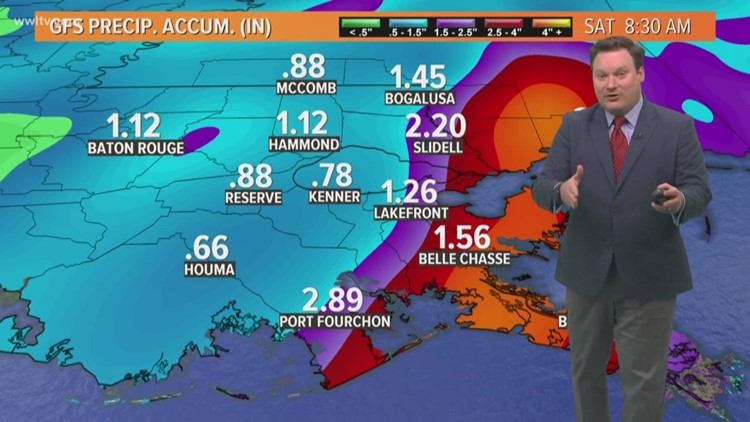 Pinpoint Forecast: Rainy Day, Some Heavy at Times