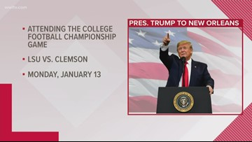 President Trump coming to New Orleans for National Championship Game, report says