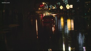 Heavy rain flood roads, homes in St. Charles Parish
