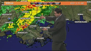 A wet morning as the cold front moves through