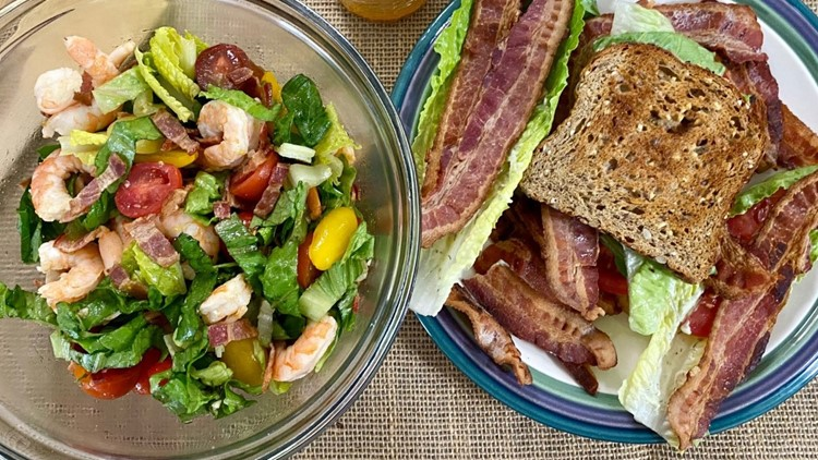 Recipe: California BLT with Garlic Dill Mayo and BLT Shrimp Salad