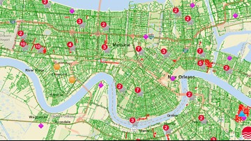 At peak, 18,000 Entergy customers without power amid flooding streets