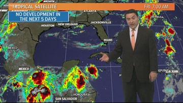 Tropics: No organized tropical systems across the Atlantic