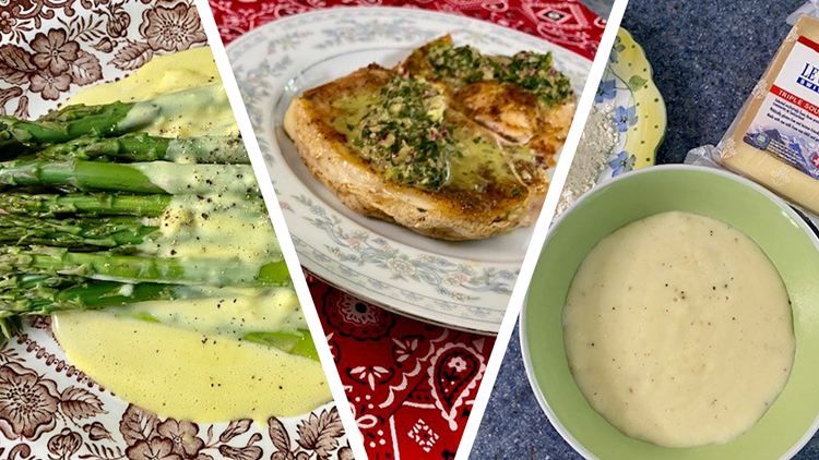 Chef Kevin Belton's Bechamel, Hollandaise and Chimichurri sauces
