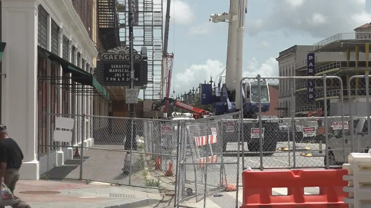 N. Rampart street reopens  after Hard Rock collapse