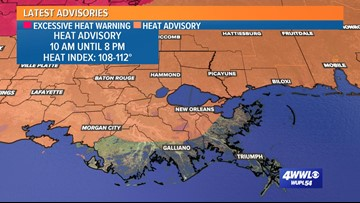 'Dangerous' heat across Louisiana, Gulf Coast again Monday