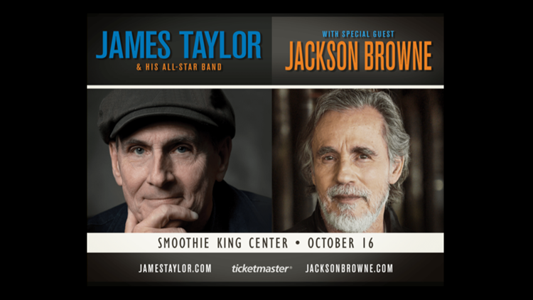 Win tickets to see James Taylor & his All-Star band + Jackson Browne