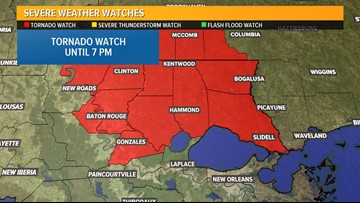 Tornado Watch for Northshore lifted