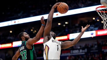 Pelicans get first win of the Zion era, dominating Celtics 123-108