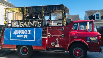 WWL-TV cheering on the Saints with mobile pep rally